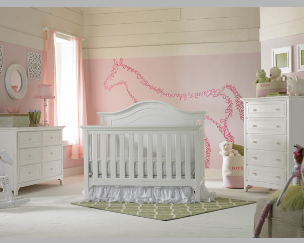Catania Convertible Crib Snow White