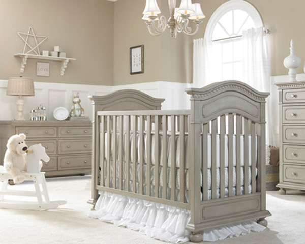 Naples Traditional Crib Grey