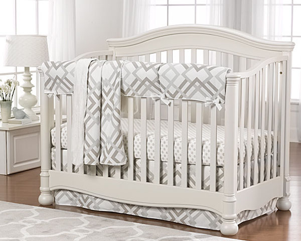 Easton Gray Taupe Single Crib for Babies