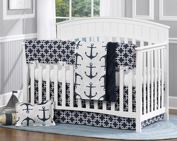 Navy Anchor Aqua Best Bedding