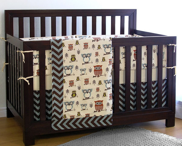 Sweet Kyla Collections Hooty Baby Crib Bedding