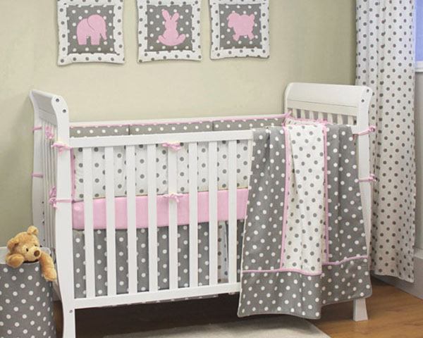 Moxy Pink Crib for Baby