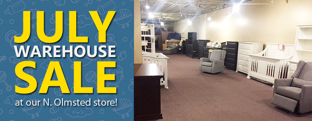 July Warehouse Sale at our N. Olmsted store