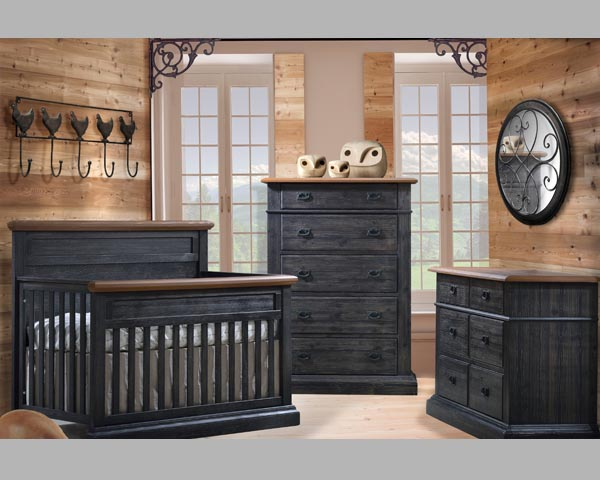 Cortina Furniture Cortina Baby Room in Black Chalet Cognac