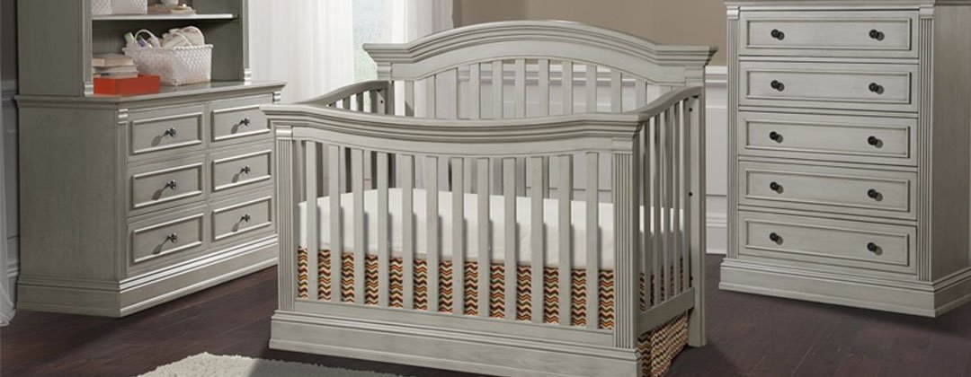 Baby Tyme Furniture Grey Crib