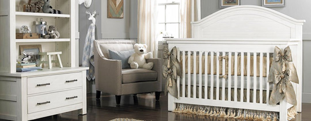 White Crib with Ribbon