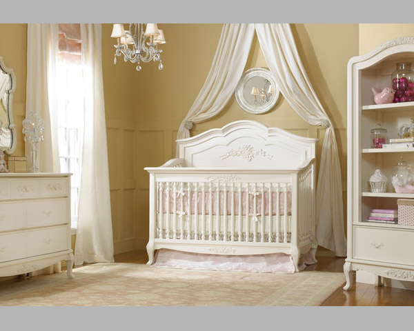 Angelina Full Panel French Vanilla Crib Bedding