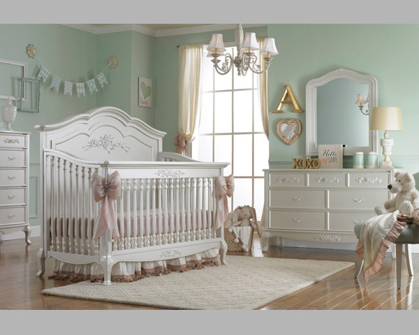 Angelina Full Panel Crib Pearl Baby Bed