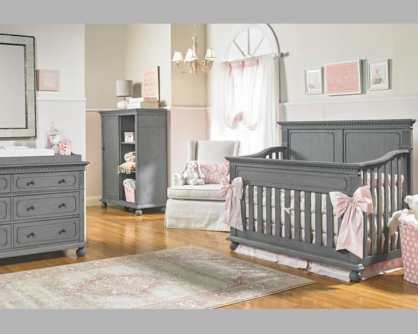 Naples Nantucket Crib Grey